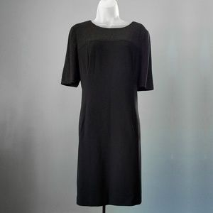 Adrianna Papell Grey & Black Short Sleeve Dress 14